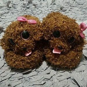 TY Beanie Boo Slippers Puppy Maddie Girls Size 1-2